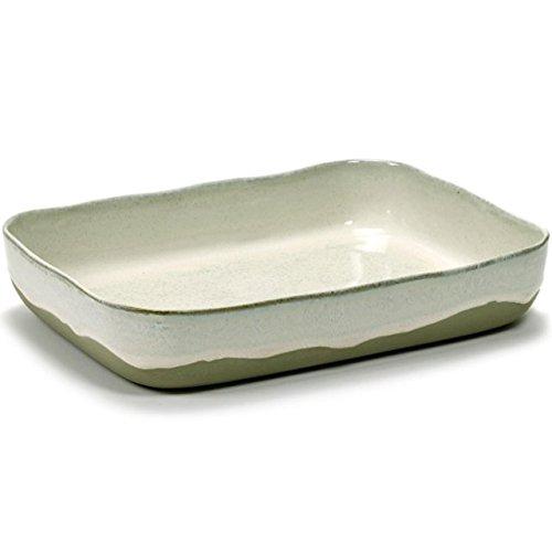 MERCI N°10 Plat à four Blanc cassé - L 30.1 cm