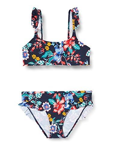 ESPRIT JASMINE BEACH YG    bustier+brief Bikini-Set, Mädchen, Blau 140/146