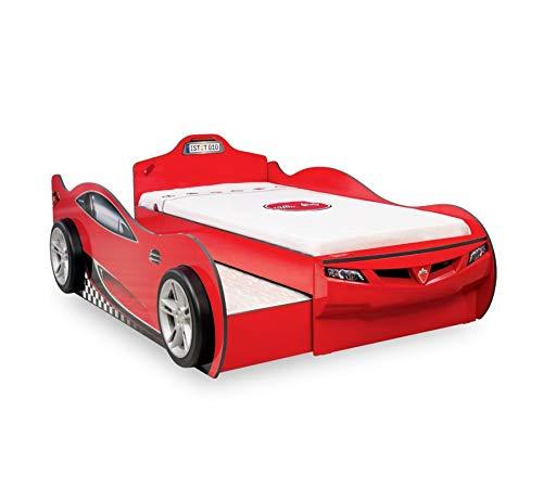 Cilek Coupe Autobett + Gästebett ROT Matratze ohne Matratze