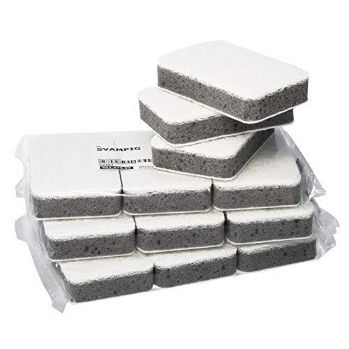 IKEA SVAMPIG White & Grey Dish Sponges - Set of 12