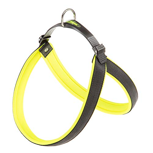 Ferplast Agila Fluo arnés para perros, amarillo, talla 6