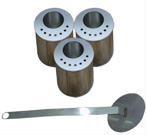 3 x 0,5 L. Bruciatori con placchette metalliche /per bioetanolo/ biocamini/con spegnifiamma + lana di vetro/per risparmiare bioetanolo