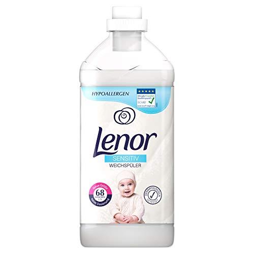 Lenor Weichspüler, Flauschige Wäsche, 68 Waschladungen, Sensitiv für sensible Haut und Babyhaut (1.7 L)
