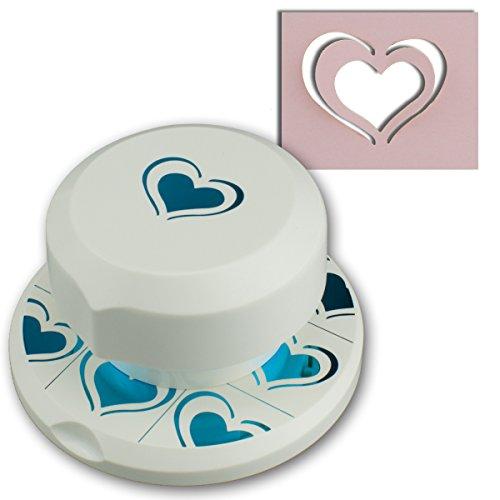 Artoz fliegender Stanzer - 3D Pop-Up - Herz - Frei positionierbarer Kartenstanzer - Stanze-Locher zum Kartenbasteln für Geburtstage, Einladungen und vieles mehr