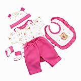 NPKPINK Reborn Doll Baby Girl Clothing 5 Piece Set Outfits for 16-18 Inches Reborn Baby Dolls Clothes
