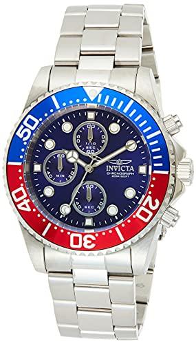 Invicta Pro Diver 1771 Reloj para Hombre Cuarzo, 43mm, Azul-Rojo/Plateado