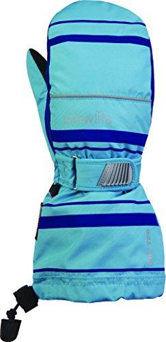 Snowlife Winterhandschuhe Kinder mit wärmerückhaltender Dry-TEC Membrane ideal für Skifahren Long Cuff DT Kids Mitten, rürkis/blau, J/M