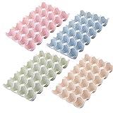 4 Piezas Caja Envase para Huevos, Cartón de Huevos Plástico, Contenedores de...