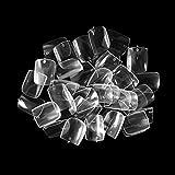 ネイルチップ Missct つけ爪 無地 ベリーショート スクエア型 600枚入れ 10サイズ 爪にピッタリ 付け爪 練習用 透明 ネイル用品 デコレーション ネイルアート