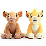 Wjfijz El Rey León Simba Nala Soft Kids Doll 26cm, Simba Peluches Peluche 2pcs