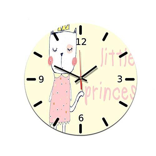 LUOYLYM Reloj Decorativo Nórdico Reloj De Pared Reloj Decorativo De Acrílico Movimiento Silencioso Reloj con Espejo Reloj De Pared para Sala De Estar Ctt-22 28CM