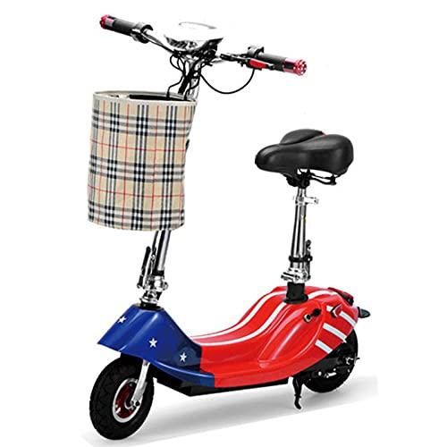 AFSDF Scooter para Adultos/Adolescentes con batería Desmontable Potente 250 w Motor y Velocidad máxima de 19 mph 8 Pulgadas Densidad Dual,C
