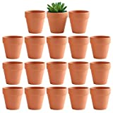 Yishang 3 Inch Terracotta pots - Small Clay Ceramic Pottery Planter, Cactus Flower Terra Cotta Pots, Succulent Nursery Pots, with Drainage Hole, for Indoor/Outdoor Plants, Crafts