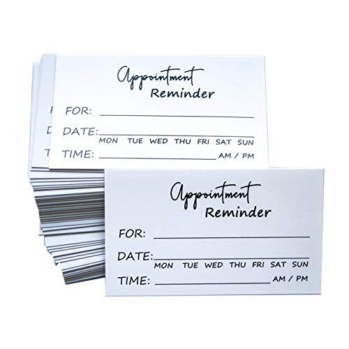RXBC2011 Appointment Reminder Cards Pack of 100