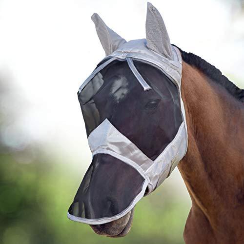 Harrison Howard CareMaster Maschera Anti-Mosche per Cavallo UV Protezione Pieno Volto (M; COB)
