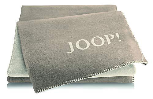 Joop!® Uni-Doubleface I flauschig-weiche Kuscheldecke Palisade-Pergament I Wohndecke aus Baumwolle & Dralon® in beige I Tagesdecke 150x200 cm   nachhaltig produziert in DE I Öko-Tex Standard 100