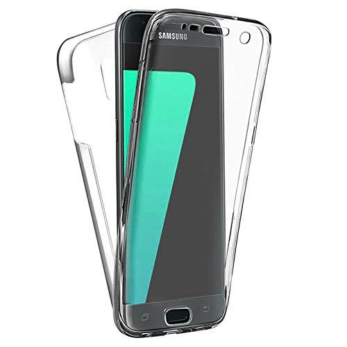 TBOC Funda para Samsung Galaxy J7 (2017) J730 (5.5') - Carcasa [Transparente] Completa [Silicona TPU] Doble Cara [360 Grados] Protección Integral Total Delantera Trasera Lateral Móvil Resistente