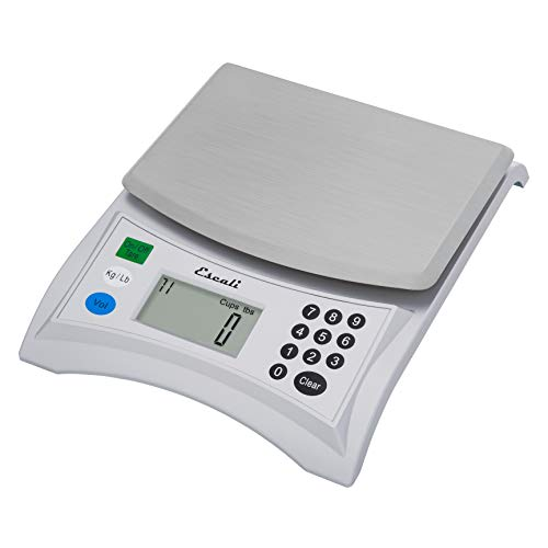 Escali Pana V136 Large Volume Measuring Kitchen/Baking/Cooking Scale, Preprogrammed with Over 500 Ingredients, LCD Digital Display, 13lb Capacity, Universal, Stainless