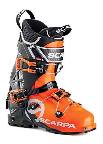 SCARPA Scarponi da Sci Alpinismo Maestrale Uomo, Orange-Anthracite, 26.5