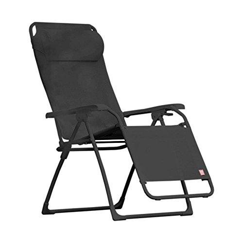 Jan Kurtz Limited Edition Fiam Amida Relaxliege, schwarz Bezug Textilene stufenlos verstellbar