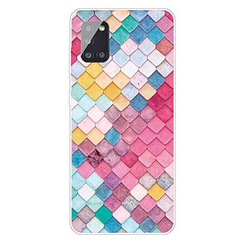 Seeya - Carcasa para Samsung Galaxy A41 con diseño de fantasía, fina, cuadrada, de silicona TPU flexible, antigolpes, para Galaxy A41