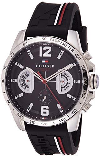 Tommy Hilfiger Reloj Multiesfera para Hombre de Cuarzo con Correa en Silicona