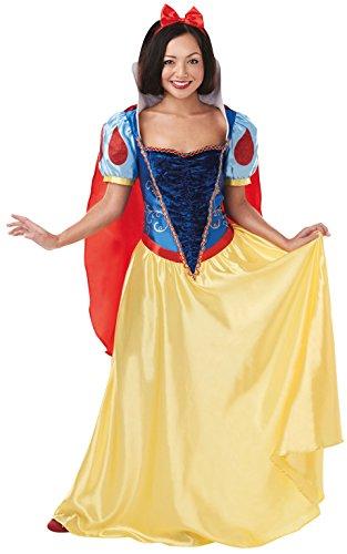 Princesas Disney - Disfraz de Blancanieves Deluxe para mujer, Talla M adulto (Rubie