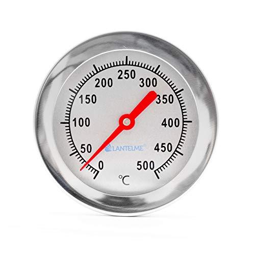 Lantelme Grill Thermometer 500°C Grad mit 50 cm langer Sonde aus Edelstahl für Smoker Pizzaofen Tandur Mangal BBQ 3115