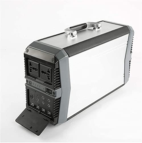 COUYY Central eléctrica portátil de 500W, Banco de Potencia de Salida de AC/DC/USB, Dispositivos múltiples de energía, generador Solar para Acampar, RV, Aire Libre, Off-Grid