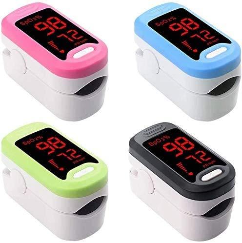 L.TSA Fingerspitzen-Pulsoximeter, Blutsauerstoffsättigung, tragbarer Sauerstoff-Monitor, für Kinder und Erwachsene, Finger-Clip, LED-Display, Pulsoximeter für Familie und Gesundheit, Rose