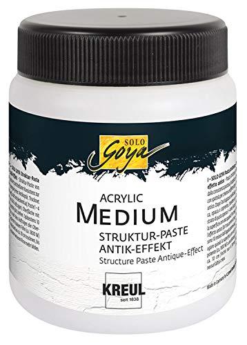 Kreul 86105 - Solo Goya Acrylic Medium, Strukturpaste Antik Effekt, 250 ml Dose