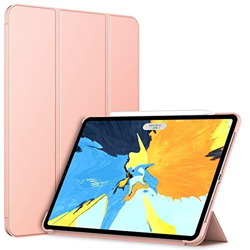 JETech Hülle für iPad Pro 11 Zoll (2018 Veröffentlichung Kante zu Kante Liquid Retina Bildschirm), kompatibel mit Apple Pencil, Intelligent Abdeckung Schlafen/Wachen (Roségold)