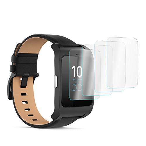 KARYLAX [Pack x4] Protector de pantalla para reloj inteligente película de vidrio Nano Flexible irrompible Dureza 9H, Ultra Fin 0,2 mm y 100% Transparente para Lefo LeM4