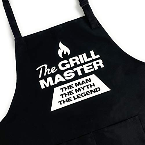 UP THE MOMENT The Grill Master The Man The Myth The Legend Apron, Funny Apron for Men, BBQ Grill Apron, Chef Apron, Funny Apron for Dad, Mens Funny Apron, Funny Chef Apron for Men