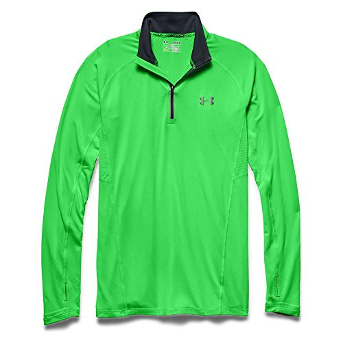 Under Armour pour homme Launch Run 1/4 zip, Homme, Poison / Stealth Gray / Reflective, Large