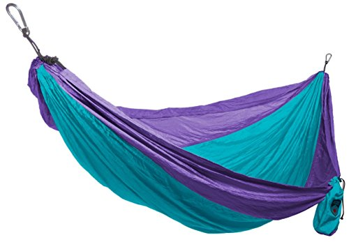Grand Trunk Print Hammock - Double Hammock for Indoor and Outdoor Adventures, Camping, Hiking, and the Beach - Tree Hanging Kit Included, Sky Blue and Purple