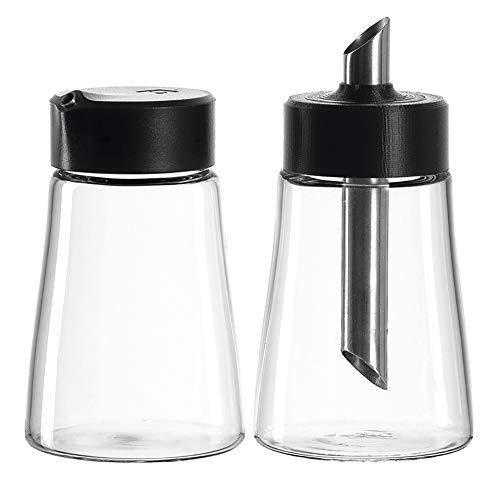 LEONARDO HOME Senso Milchkännchen/Zuckerstreuer, 2-er Set, 300 ml, Klarglas und Kunststoff, 029774