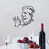 Zdklfm69 Adhesivos Pared Pegatinas de Pared Vinilo de Cocina para decoración del hogar Decoración de Comedor Cocina/Vino/Calcomanías de café Pegatinas Mural 76x76cm