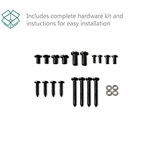 WALI Heavy Duty Anti-Tip Straps for Furniture and TVs/Baby Safety Protection, Fit Most Flat Screens, All Mounting Hardware Included, 2 Pack, Black (WL-TAS001)