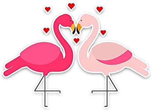 hutianyu 14X 10Cm hart vorm vogel decoratie auto Stickers persoonlijkheid hoge pualiteit bumper auto venster verwijderbare decoratieve accessoire 2 Stks/set