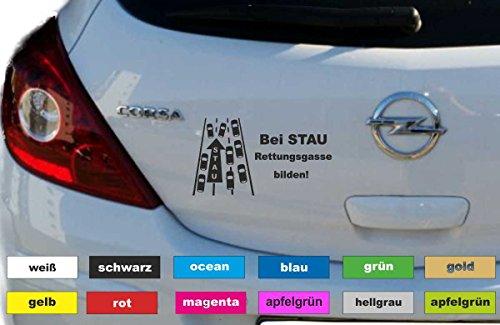 Don Cappello Rettungsgasse bilden Aufkleber Autobeschriftung Sticker Heckscheibe Breite 18 cm