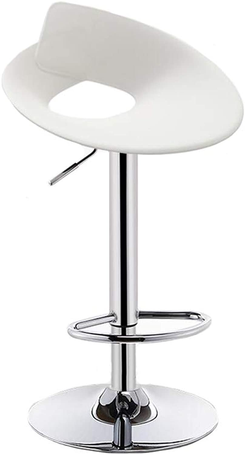 Dall Bar Stools Swivel Kitchen Chair Plastic Height Adjustable Footrest Stable Durable (color   T6)