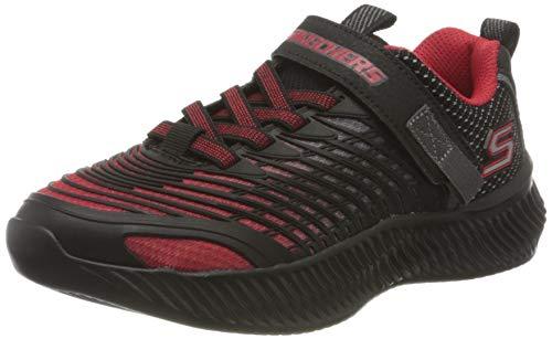 Skechers OPTICO Sneaker, Textil in Rot/Schwarz/Anthrazit, 35 EU