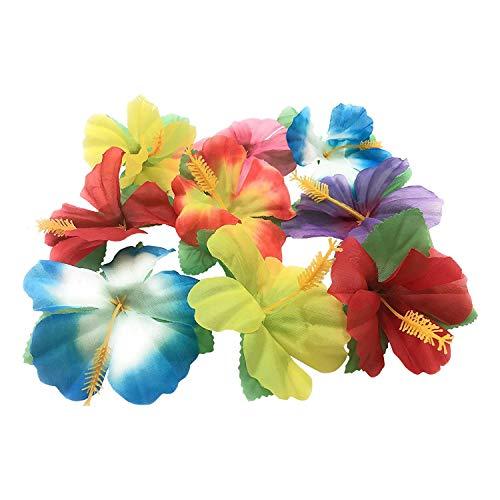 Autumne Paquete de 72 Flores de Hibisco para DecoracióN de Mesa Favor de Fiesta Hawaiana DecoracióN de Fiesta Luau