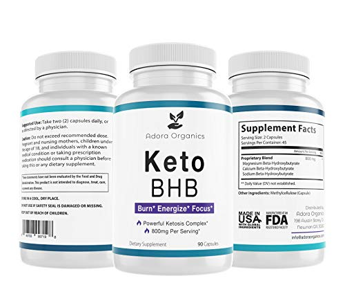 Keto BHB Diet - 800mg - Excellent Fat Burner Supplement - Ketosis Support - 90 Capsules 1