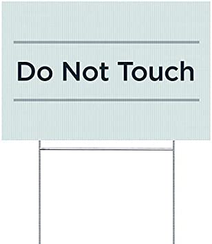 Basic Teal Double-Sided Weather-Resistant Yard Sign 5-Pack Do Not Touch CGSignLab 18x12