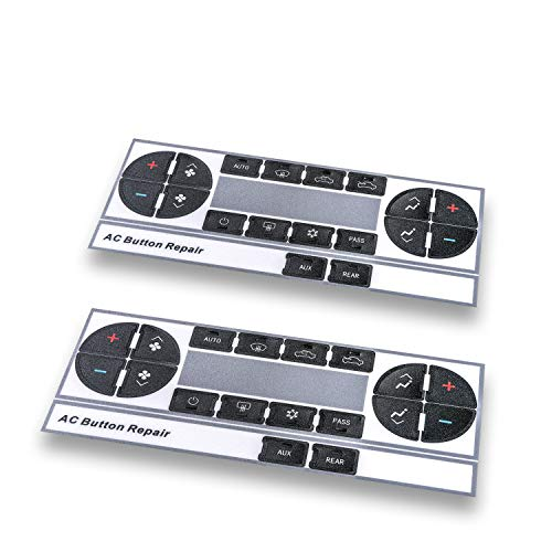AC Dash Button Repair Kit, Control & Radio Button Replacement Decal Stickers - Fix Worn or Paint Off Buttons - Fit for Chevy Silverado,Tahoe,Traverse, Suburban,GMC Acadia, Yukon