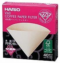 Filtro Natural para Coador Hario V60-01 - 40 Unidades