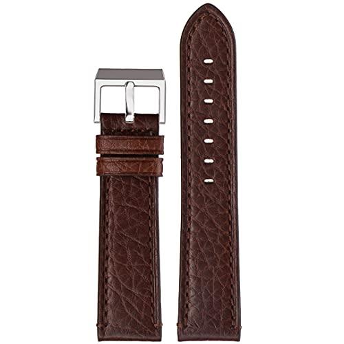 Correa de reloj de piel auténtica | Stailer Premium Aviator Collection | piel italiana curtida vegetalmente | Tamaño 24 mm 22 mm 20 mm, marrón, 24mm,