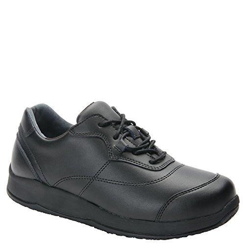 Drew Basil Women's Drew Slip Resistant Leather Oxford Shoe Black - 11.5 Narrow